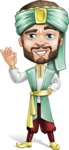 Arabian Man with Beard Cartoon Vector Character AKA Fath Victory - Delicious