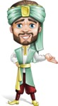 Arabian Man with Beard Cartoon Vector Character AKA Fath Victory - Showcase