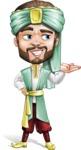 Arabian Man with Beard Cartoon Vector Character AKA Fath Victory - Showcase 2