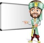 Arabian Man with Beard Cartoon Vector Character AKA Fath Victory - Presentation 1