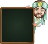 Arabian Man with Beard Cartoon Vector Character AKA Fath Victory - Presentation 2