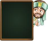 Arabian Man with Beard Cartoon Vector Character AKA Fath Victory - Presentation 3