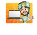 Arabian Man with Beard Cartoon Vector Character AKA Fath Victory - Shape 1