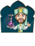 Arabian Man with Beard Cartoon Vector Character AKA Fath Victory - Shape 2