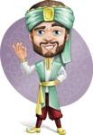 Arabian Man with Beard Cartoon Vector Character AKA Fath Victory - Shape 8