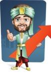 Arabian Man with Beard Cartoon Vector Character AKA Fath Victory - Shape 9