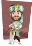 Arabian Man with Beard Cartoon Vector Character AKA Fath Victory - Shape 10