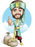 Arabian Man with Beard Cartoon Vector Character AKA Fath Victory - Shape 11