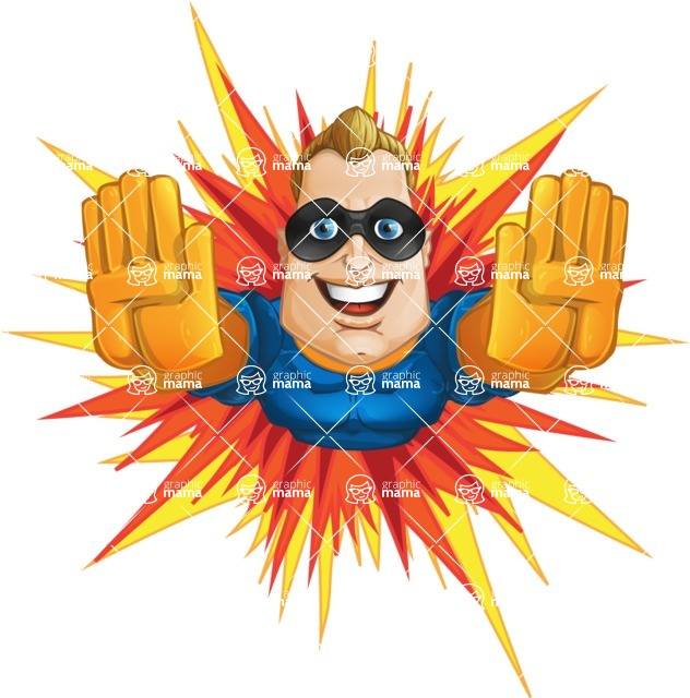 Superhero Cartoon​ Character AKA Commander Dynamo - Flying Fast as a Flash