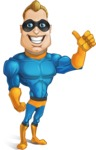 Superhero Cartoon​ Character AKA Commander Dynamo - Smiling