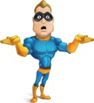 Superhero Cartoon​ Character AKA Commander Dynamo - Feeling Desperate