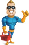 Superhero Cartoon​ Character AKA Commander Dynamo - Shopping Grocery