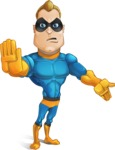 Superhero Cartoon​ Character AKA Commander Dynamo - Feeling Angry