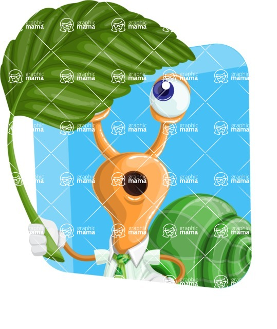 Snail with a Tie Cartoon Vector Character AKA Collin The Ecologist - Shape 3