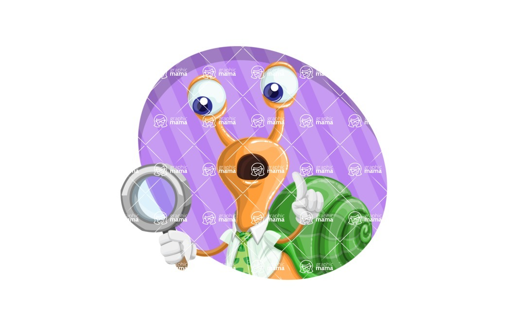 Snail with a Tie Cartoon Vector Character AKA Collin The Ecologist - Shape 4