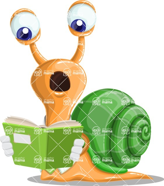 Snail with a Tie Cartoon Vector Character AKA Collin The Ecologist - Book 1