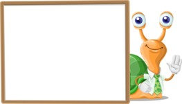 Snail with a Tie Cartoon Vector Character AKA Collin The Ecologist - Presentation 5