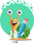 Snail with a Tie Cartoon Vector Character AKA Collin The Ecologist - Shape 5