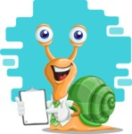 Snail with a Tie Cartoon Vector Character AKA Collin The Ecologist - Shape 7