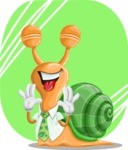 Snail with a Tie Cartoon Vector Character AKA Collin The Ecologist - Shape 11