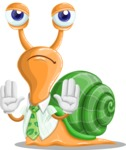 Snail with a Tie Cartoon Vector Character AKA Collin The Ecologist - Stop 2