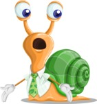 Snail with a Tie Cartoon Vector Character AKA Collin The Ecologist - Lost