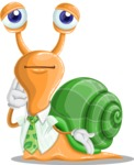 Snail with a Tie Cartoon Vector Character AKA Collin The Ecologist - Oops