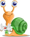 Snail with a Tie Cartoon Vector Character AKA Collin The Ecologist - Show Love