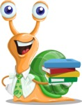 Snail with a Tie Cartoon Vector Character AKA Collin The Ecologist - Book 2