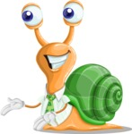 Snail with a Tie Cartoon Vector Character AKA Collin The Ecologist - Showcase