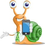 Snail with a Tie Cartoon Vector Character AKA Collin The Ecologist - iPhone