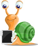 Snail with a Tie Cartoon Vector Character AKA Collin The Ecologist - iPad 1