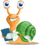 Snail with a Tie Cartoon Vector Character AKA Collin The Ecologist - Notepad 2