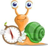 Snail with a Tie Cartoon Vector Character AKA Collin The Ecologist - Time is yours