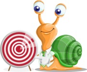 Snail with a Tie Cartoon Vector Character AKA Collin The Ecologist - Target