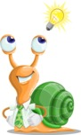 Snail with a Tie Cartoon Vector Character AKA Collin The Ecologist - Idea 2
