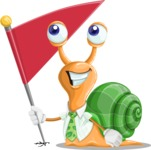 Snail with a Tie Cartoon Vector Character AKA Collin The Ecologist - Checkpoint