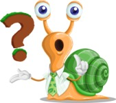 Snail with a Tie Cartoon Vector Character AKA Collin The Ecologist - Question
