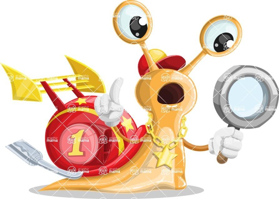 Racer Snail Cartoon Vector Character AKA Mr. Speedy - Search