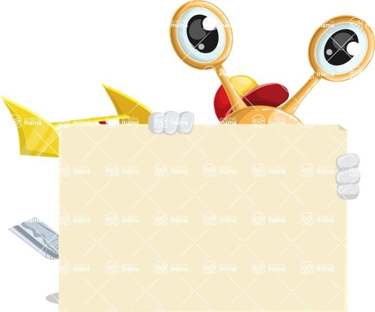 Racer Snail Cartoon Vector Character AKA Mr. Speedy - Sign 6