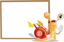 Racer Snail Cartoon Vector Character AKA Mr. Speedy - Presentation 5