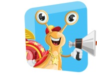 Racer Snail Cartoon Vector Character AKA Mr. Speedy - Shape 3