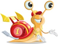 Racer Snail Cartoon Vector Character AKA Mr. Speedy - Showcase