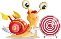 Racer Snail Cartoon Vector Character AKA Mr. Speedy - Target