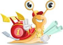 Racer Snail Cartoon Vector Character AKA Mr. Speedy - Plans