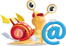 Racer Snail Cartoon Vector Character AKA Mr. Speedy - Email