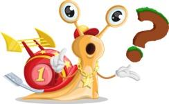 Racer Snail Cartoon Vector Character AKA Mr. Speedy - Question