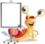 Racer Snail Cartoon Vector Character AKA Mr. Speedy - Presentation 1