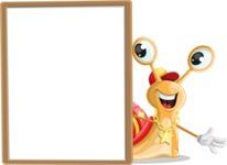 Racer Snail Cartoon Vector Character AKA Mr. Speedy - Presentation 4