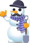 Snowman with Moustache